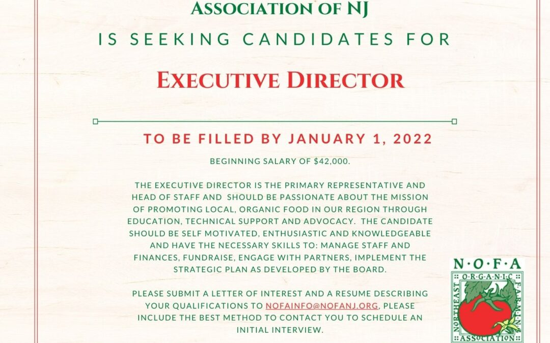 Announcement: Executive Director Job Posting